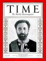 Haile Selassie in Time Magazine 1930